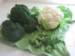 broccoli and cauliflower