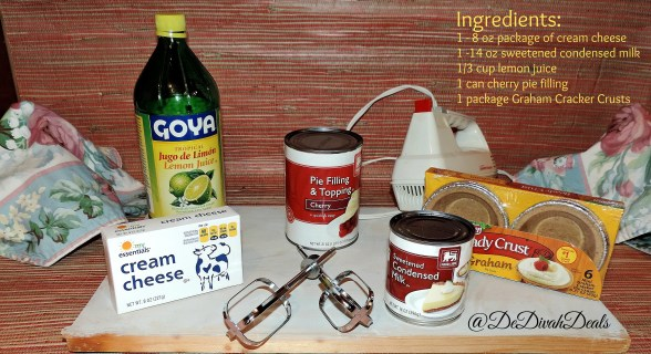 Ingredients for no bake cheese cake