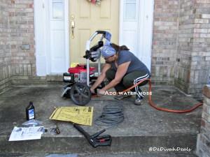Attach garden hose