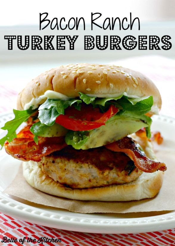 Bacon Ranch Turkey Burgers