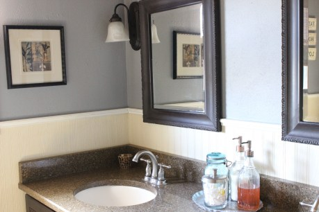 DIY Bathroom Vanity Mirror