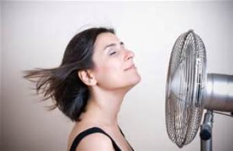 fan blowing