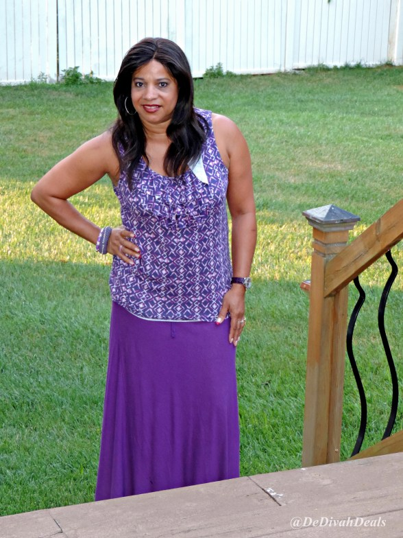 maxi skirt outfit of the day