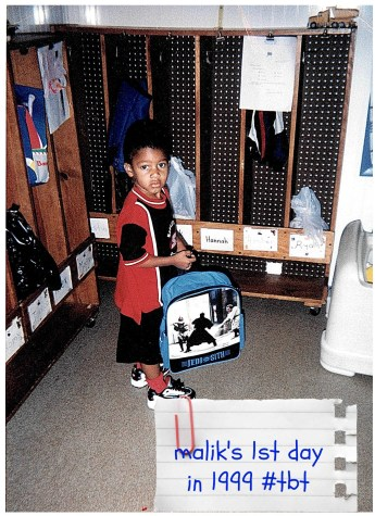 Malik's 1st day of school 1999