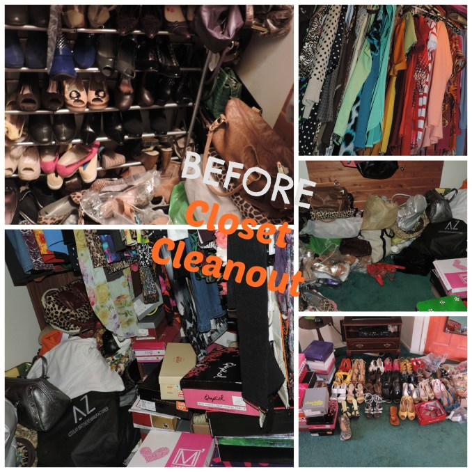 before closet cleanout