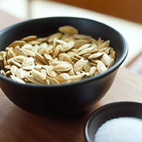 pumpkin-seeds - stock photo