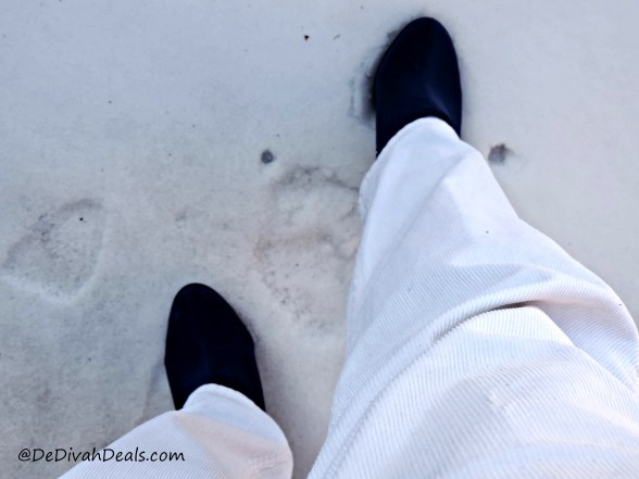 Wearing Winter White with boots