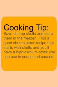 cooking tip with shrimp