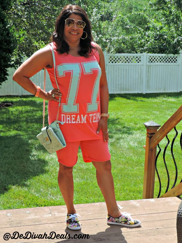 Summer Shorts set and sneakers