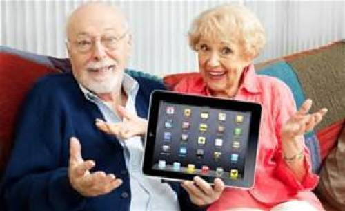 seniors and an ipad