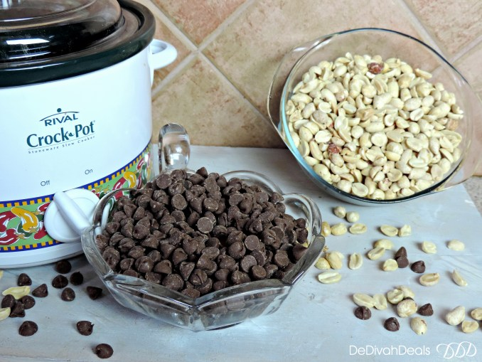 Crock Pot Peanut Cluster ingredients