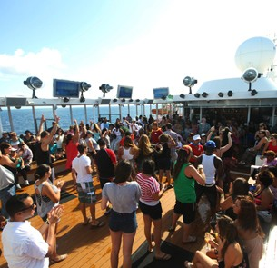 Pool Party aboard a cruise ship