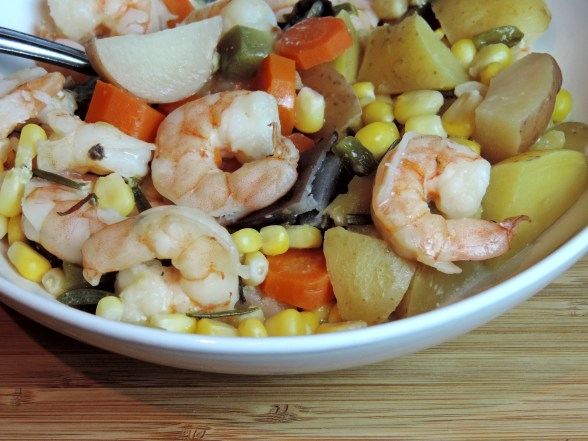 Slow Cooked Shrimp and Corn Chowder
