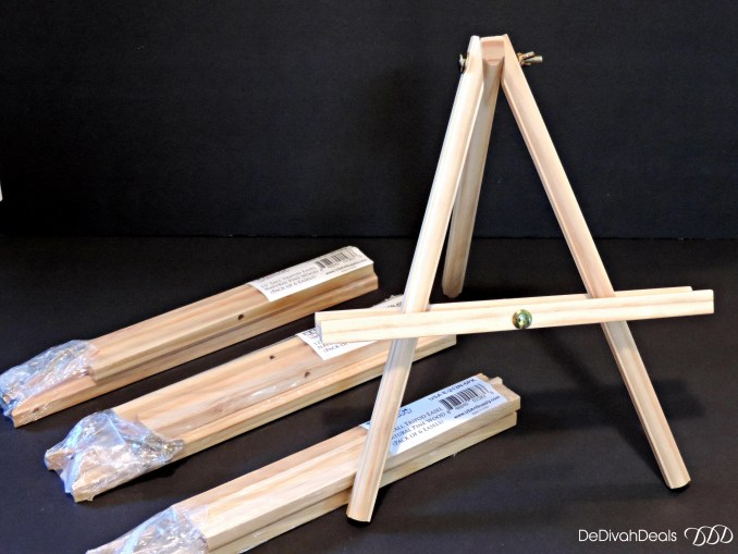"US Art Supply 12"" Natural Easels"