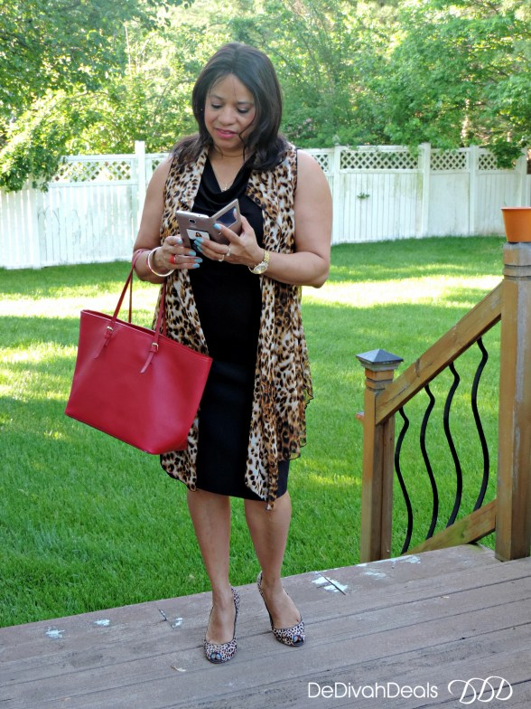 red and animal print