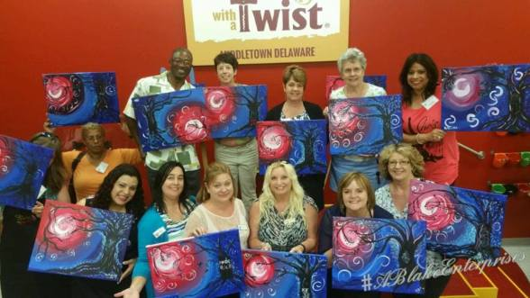 Painting with a Twist attendees
