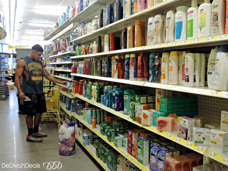 toiletries from Dollar General