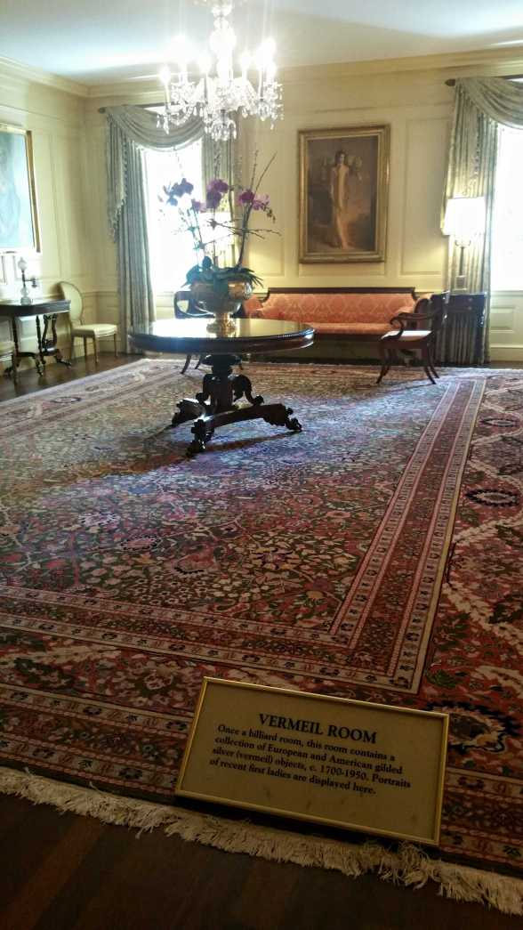 The Vermeil Room in the White House