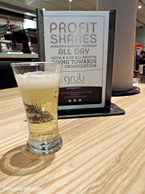 Craft beer is available at Grub Burger Bar