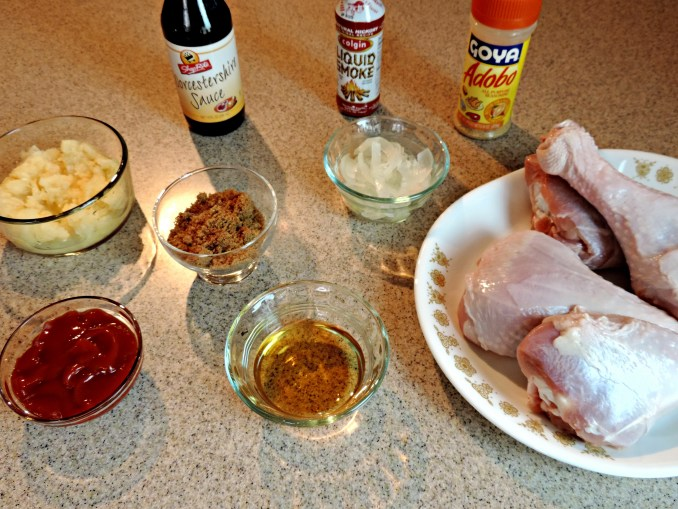 ingredients for slow cooked bbq turkey legs