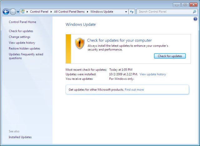 What Security Update Windows 7