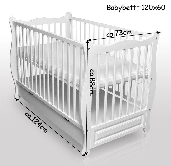 Kinderbett Decke Kissen Babybett Kinderbett Juniorbett Weiss 120x60