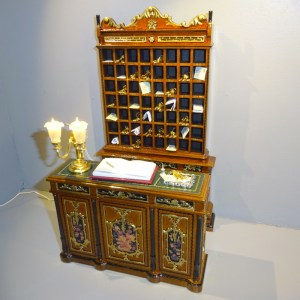 Hotel reception desk and key unit based on Featherstone Hall