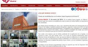 Sensibilización sobre el voluntario y Cáritas en el IES Santa Eugenia