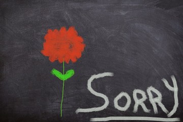 apologizing to someone you love