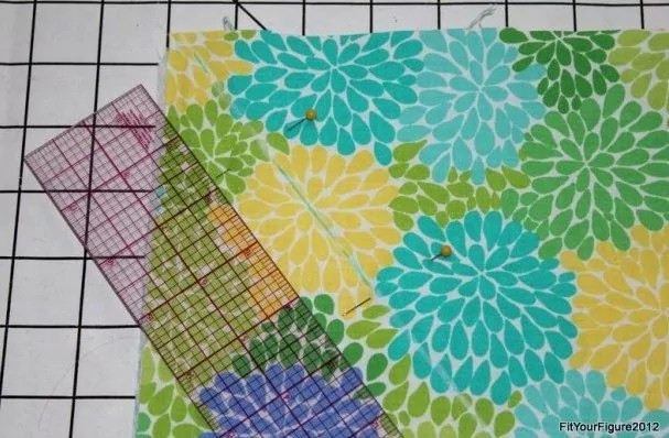 Draw One Inch Diagonal Quilt Lines