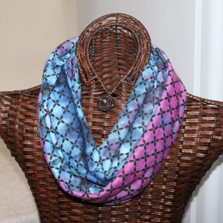 Blue and purple knit finished width= 9
