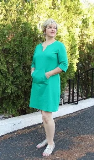 Green French Terry Vogue Dress