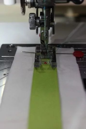 Ribbon on stabilizer/interfacing
