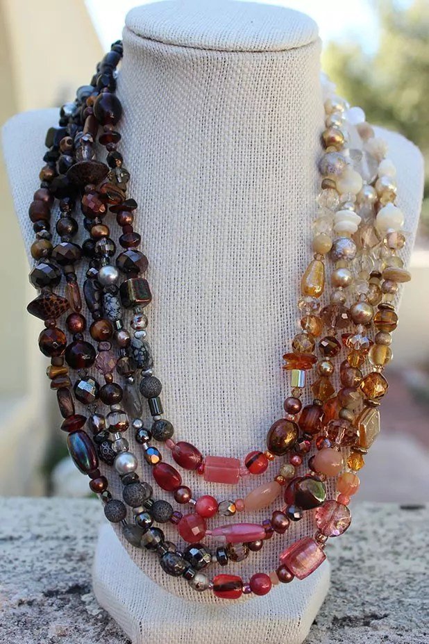 Blended Bead Soup Necklace