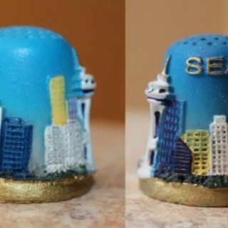 Seattle skyline thimble