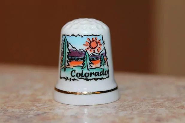Porcelain thimble from Colorado