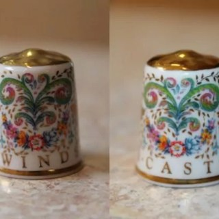 Porcelain thimble from Windsor Castle, England
