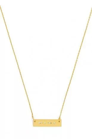 Simple chain and bar necklace
