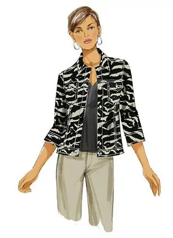 Butterick 5616 Jean Jacket