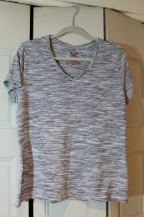 Black/White Tee Cotton/Modal/Spandex (Walmart)