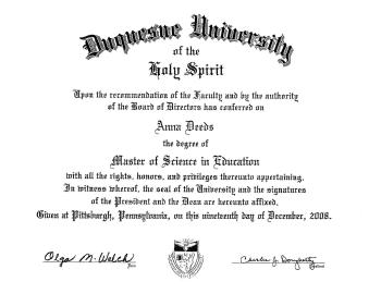 Duquesne University Master's Degree