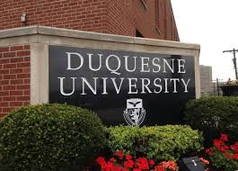Duquesne University Sign in Pittsburgh, PA