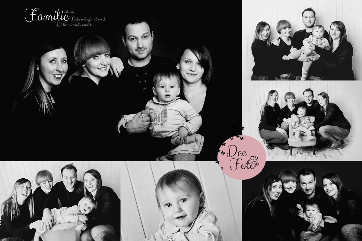 Familienfotos Collage Im Studio In Neukirchen Bei Sulzbach