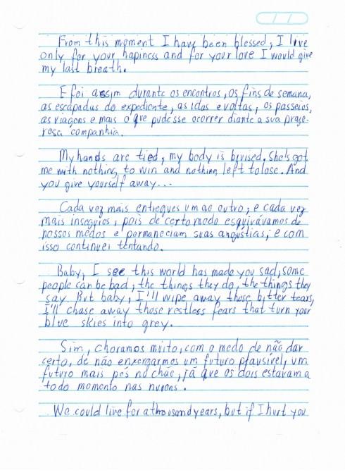 Carta de amor  Francisco Wu  Lembranas Fictcias