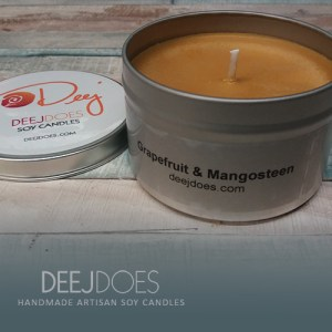 Grapefruit & Mangosteen Soy Candle by DEEJ DOES