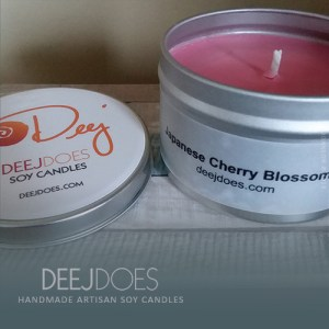Japanese Cherry Blossoms Soy Candle by DEEJ DOES