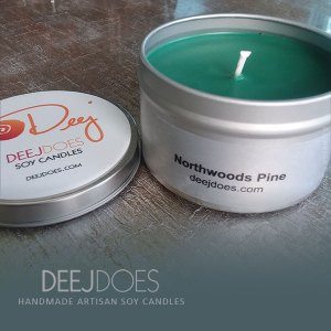Northwoods Pine Soy Candle by DEEJ DOES