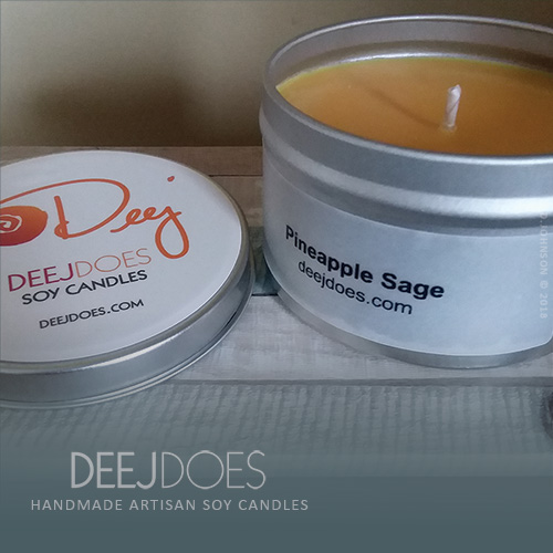 Pineapple Sage Soy Candle by DEEJ DOES