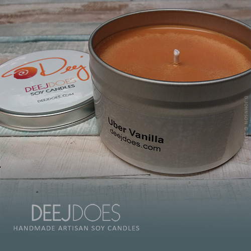 Uber Vanilla Soy Candle by DEEJ DOES