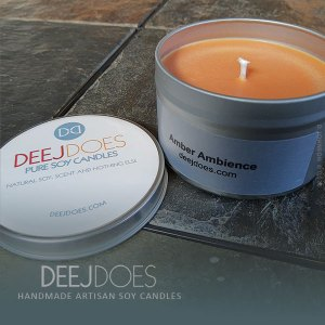 Amber Ambience Soy Candle by DEEJ DOES